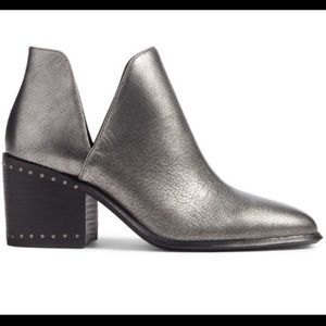 Vince Camuto Petran Gunmetal Stacked Booties